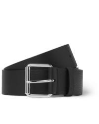 schwarzer Ledergürtel von Balenciaga