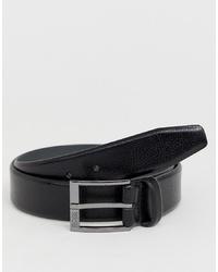 schwarzer Ledergürtel von BOSS