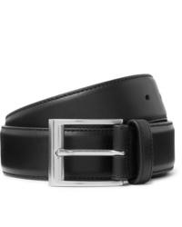 schwarzer Ledergürtel von Bottega Veneta