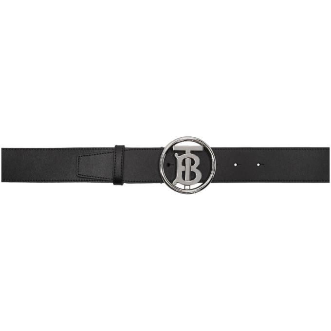 schwarzer Ledergürtel von Burberry