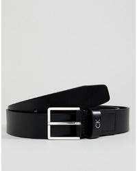 schwarzer Ledergürtel von Calvin Klein
