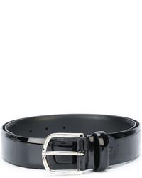 schwarzer Ledergürtel von Canali