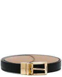 schwarzer Ledergürtel von Dolce & Gabbana
