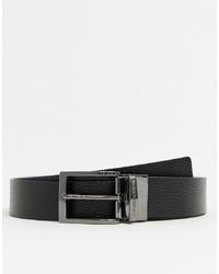 schwarzer Ledergürtel von Emporio Armani
