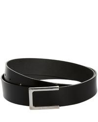 schwarzer Ledergürtel von Esprit