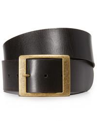 schwarzer Ledergürtel von Frame