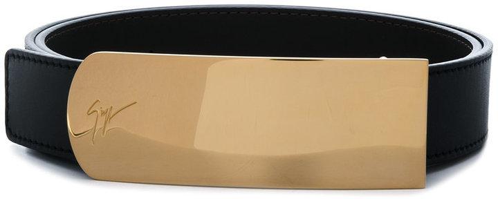 schwarzer Ledergürtel von Giuseppe Zanotti Design