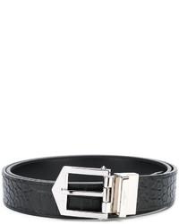 schwarzer Ledergürtel von Givenchy