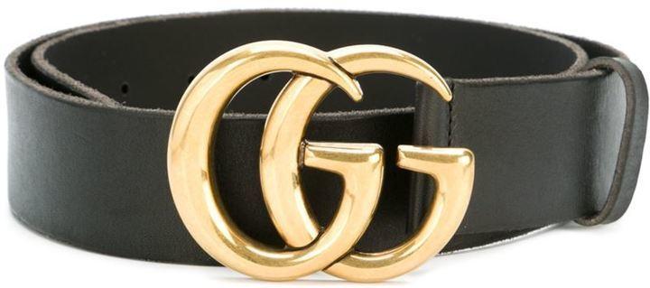 schwarzer Ledergürtel von Gucci