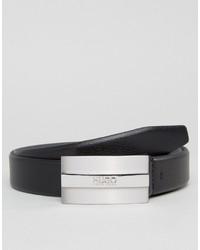 schwarzer Ledergürtel von Hugo Boss