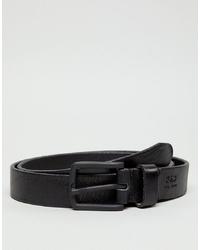 schwarzer Ledergürtel von Jack & Jones