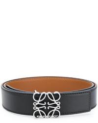 schwarzer Ledergürtel von Loewe