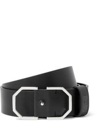 schwarzer Ledergürtel von McQ