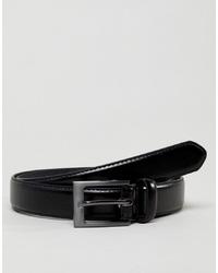 schwarzer Ledergürtel von New Look
