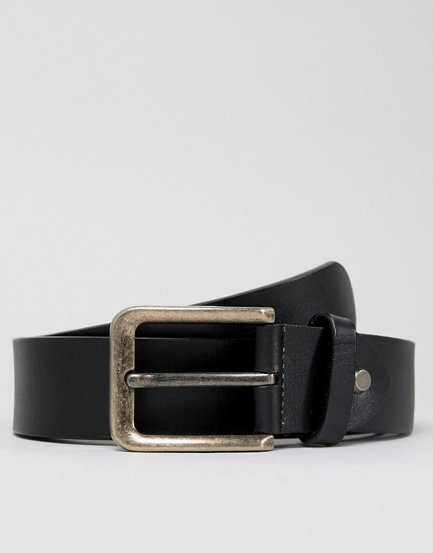 schwarzer Ledergürtel von ONLY & SONS
