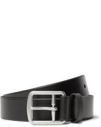 schwarzer Ledergürtel von Polo Ralph Lauren
