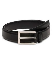 schwarzer Ledergürtel von Prada