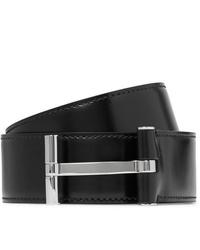 schwarzer Ledergürtel von Tom Ford