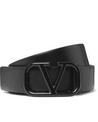 schwarzer Ledergürtel von Valentino
