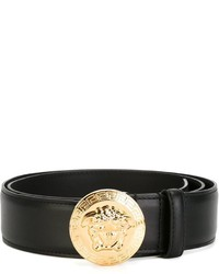 schwarzer Ledergürtel von Versace