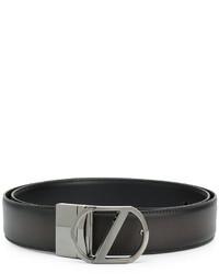 schwarzer Ledergürtel von Z Zegna