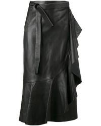 schwarzer Lederrock von Helmut Lang
