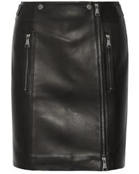 schwarzer Lederrock von Karl Lagerfeld