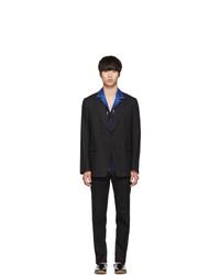schwarzer Leinen Anzug
