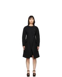 schwarzer Mantel aus Bouclé von Proenza Schouler
