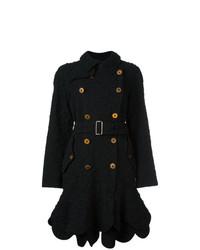 schwarzer Mantel mit Blumenmuster von Comme Des Garçons Vintage
