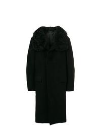 schwarzer Mantel mit einem Pelzkragen von Tom Ford