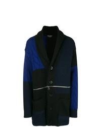 schwarzer Mantel mit Fischgrätenmuster von Alexander McQueen