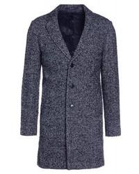 schwarzer Mantel mit Fischgrätenmuster von Club Monaco