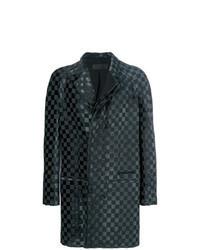 schwarzer Mantel mit Karomuster