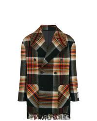 schwarzer Mantel mit Karomuster von Calvin Klein 205W39nyc