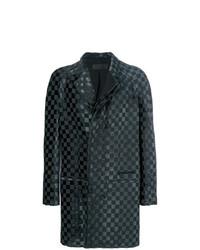 schwarzer Mantel mit Karomuster von Haider Ackermann
