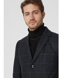schwarzer Mantel mit Karomuster von s.Oliver BLACK LABEL