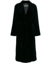 schwarzer Mantel von Alberta Ferretti