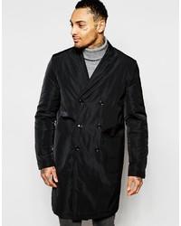 Schwarzer Mantel von Asos