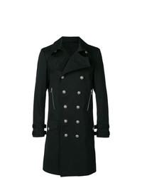 schwarzer Mantel von Balmain