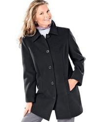 schwarzer Mantel von CLASSIC BASICS