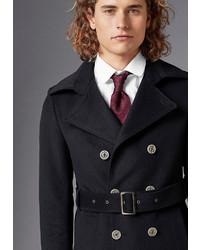 schwarzer Mantel von GUIDO MARIA KRETSCHMER Wollmantel