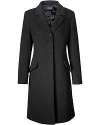 schwarzer Mantel von Highmoor