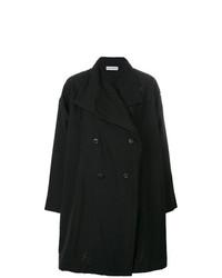 schwarzer Mantel von Issey Miyake