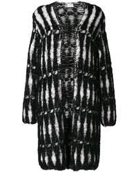 schwarzer Mantel von Lanvin