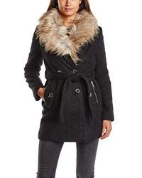 schwarzer Mantel von Lipsy