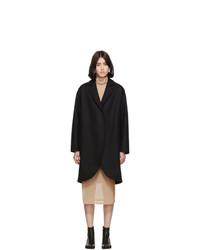 schwarzer Mantel von MM6 MAISON MARGIELA