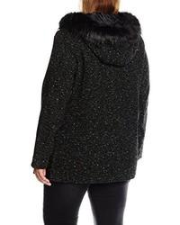 schwarzer Mantel von New Look Curves