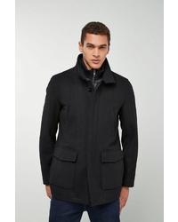 schwarzer Mantel von next
