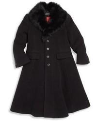 Schwarzer Mantel von Ralph Lauren